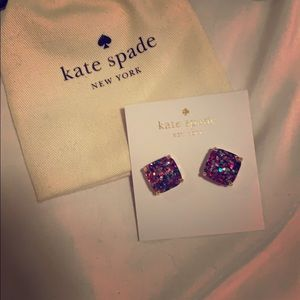 Kate Spade rainbow square earrings NWT Authentic